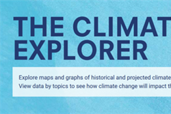 Climate Explorer nominated for Best Visual Design/Function in the annual Webby Awards
