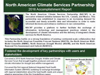 North American Climate Services Partnership: 2017 Accomplishments Report