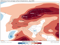 How Land-Atmosphere Interactions Magnified the Drought and Heatwave over Northern Europe during Summer 2018