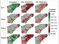 Extreme temperature and precipitation impacts on Southeast agriculture differ by crop and growth stage, study says
