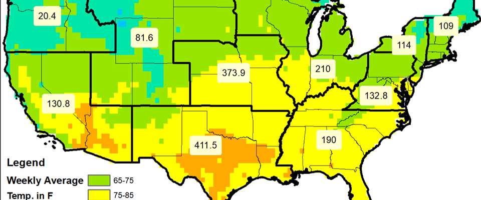 Weekly Temperatures (AVG) and Heat Related Illnesses (June 24-30, 2018)
