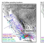 Modeling regional aerosol variability over California and its sensitivity to emissions and long-range transport during the 2010 CalNex and CARES campaigns