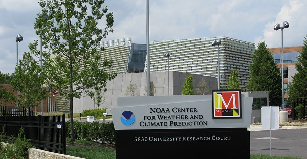 NOAA Center for Weather and Climate Prediction, College Park, Md. September 2012. (Credit: University of Maryland)