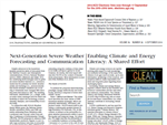 Article highlighting Teaching Climate/CLEAN Collection makes front page of AGU's EOS publication