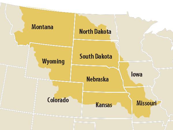 Missouri River Basin Sensitive To Decadal Climate Variability - Missouri river on us map